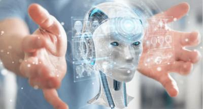 Foto robô inteligente